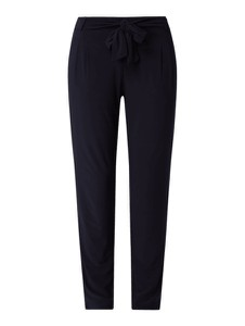 Granatowe spodnie Betty & Co Grey w stylu casual