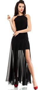 Sukienka MOE z dekoltem halter bez rękawów z wełny