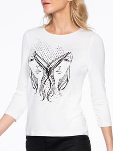 Bluzka POTIS & VERSO z długim rękawem z okrągłym dekoltem