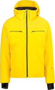 Żółta kurtka Descente krótka z tkaniny