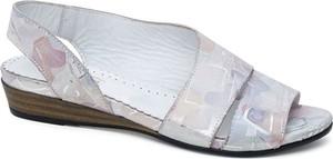Sandały Lanqier ze skóry w stylu casual