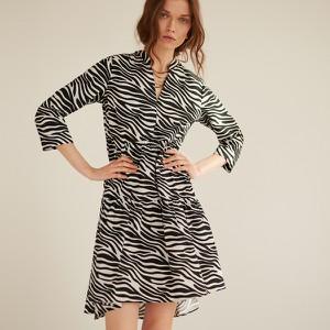 Sukienka Reserved z bawełny z długim rękawem mini
