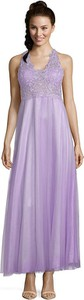 Fioletowa sukienka Vera Mont na ramiączkach maxi rozkloszowana
