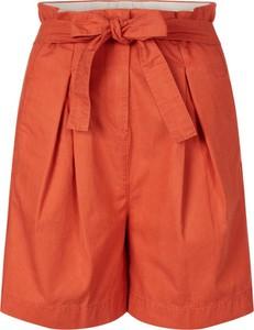 Pomarańczowe szorty Tommy Hilfiger z bawełny