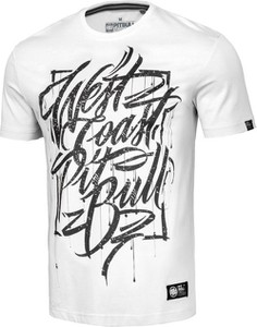 T-shirt Pit Bull z nadrukiem w młodzieżowym stylu z bawełny