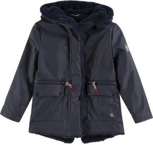Granatowy płaszcz dziecięcy Tom Tailor
