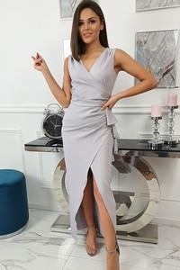 Sukienka fashion-freak.pl asymetryczna na ramiączkach z dekoltem w kształcie litery v