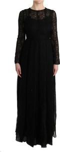 Czarna sukienka Dolce & Gabbana midi