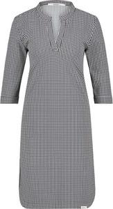Sukienka Penn&ink N.y z długim rękawem mini z dekoltem w kształcie litery v