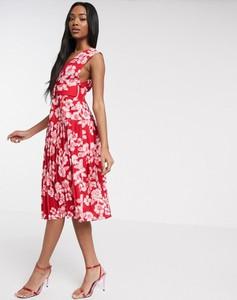 Czerwona sukienka Asos midi