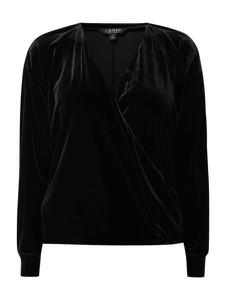 Bluzka Lauren Ralph Lauren z długim rękawem z dekoltem w kształcie litery v