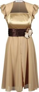 Sukienka Fokus rozkloszowana bez rękawów