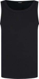 Czarny t-shirt Dsquared2 w stylu casual z krótkim rękawem