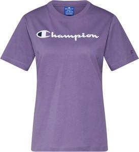 Bluzka Champion z okrągłym dekoltem w stylu casual z bawełny