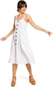 Sukienka BeWear na ramiączkach midi