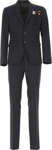 Czarny garnitur Dsquared2 z bawełny