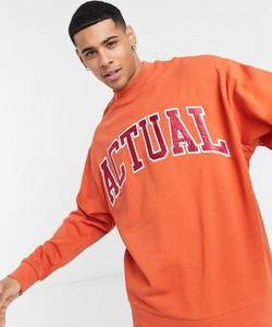 Pomarańczowa bluza Asos Actual z satyny