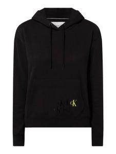 Czarna bluza Calvin Klein z bawełny krótka