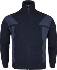 Granatowy sweter Devir z wełny