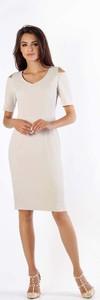 Sukienka Nommo w stylu casual z krótkim rękawem ołówkowa
