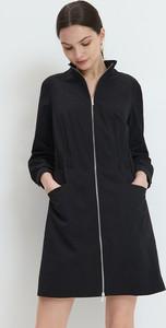 Czarna sukienka Mohito mini z długim rękawem
