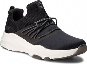 Granatowe buty sportowe Skechers sznurowane z płaską podeszwą
