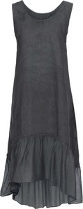 Czarna sukienka bonprix BODYFLIRT midi bez rękawów