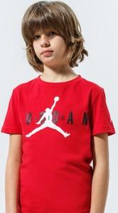 Czerwona koszulka dziecięca Nikehad z krótkim rękawem z bawełny