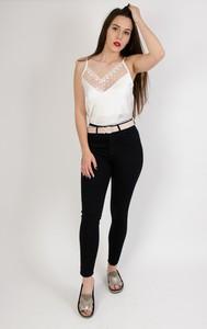 Olika (duże rozmiary) czarne spodnie rurki jeansowe