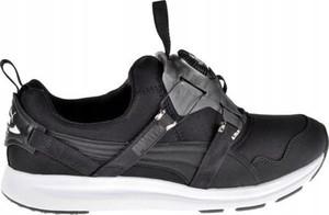 Granatowe buty sportowe Puma z płaską podeszwą w sportowym stylu