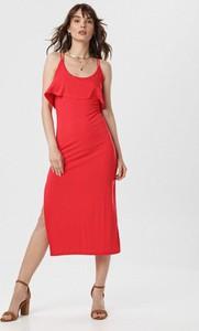 Czerwona sukienka born2be midi