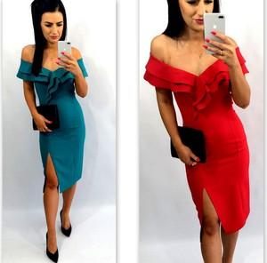 Sukienka livien.eu midi asymetryczna z tkaniny
