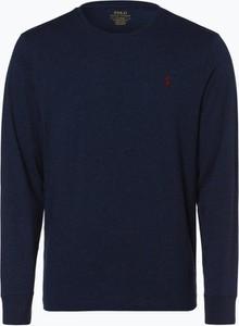 Niebieska koszulka z długim rękawem POLO RALPH LAUREN z bawełny z długim rękawem
