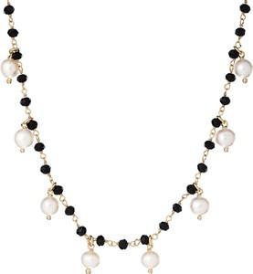 ANIA KRUK Naszyjnik SUNNY srebrny pozłacany z naturalnymi perłami