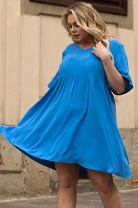 Sukienka KARKO trapezowa z tkaniny