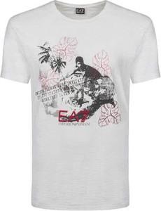 T-shirt Emporio Armani w młodzieżowym stylu z bawełny z nadrukiem
