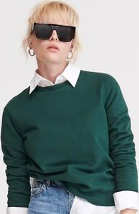Zielona bluza Reserved krótka z bawełny