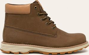 Brązowe buty zimowe Big Star ze skóry