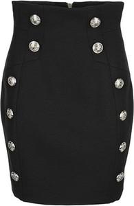 Czarna spódnica Balmain w stylu casual mini