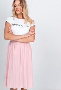 Różowa spódnica Zoio midi
