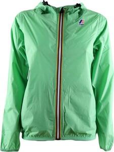 Zielona kurtka K-Way w stylu casual krótka