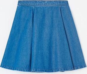 Granatowa spódniczka dziewczęca Reserved z bawełny