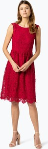 Czerwona sukienka Esprit bez rękawów