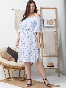Sukienka KARKO w stylu casual z długim rękawem hiszpanka