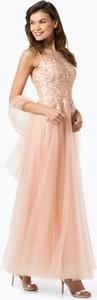 Sukienka Luxuar Fashion maxi z tiulu bez rękawów