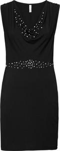 Sukienka bonprix BODYFLIRT boutique dopasowana z dekoltem woda midi