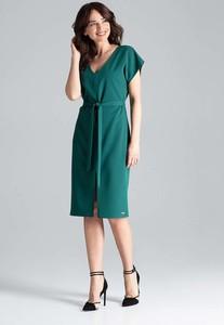Sukienka Katrus midi z krótkim rękawem