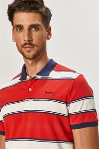 Czerwona koszulka polo Pepe Jeans