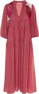 Czerwona sukienka Beatrice .b w stylu casual z długim rękawem