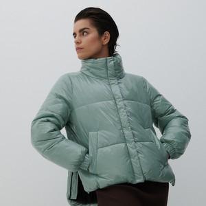 Zielona kurtka Reserved krótka w stylu casual